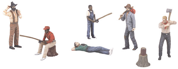 MTH 30-11048 O Gauge Bus Station Employees and Patrons 6-Piece Figure Set #4